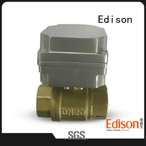 Edison motorized motorised ball valve wholesale for hardware store