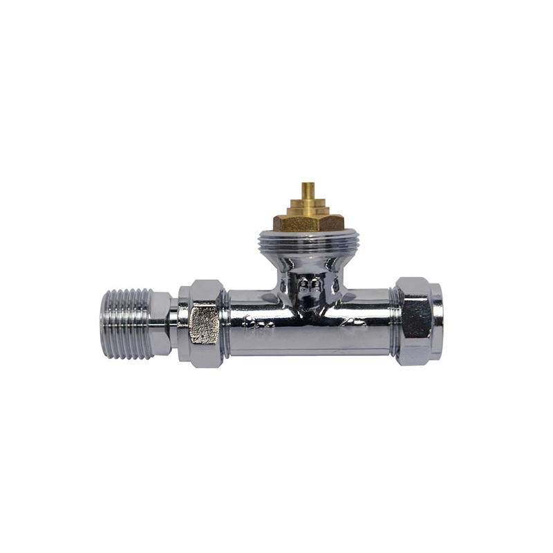 Edison knob chrome radiator valves series for shopping malls-3