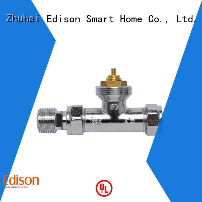 Edison gb straight radiator valves manufacturer for hotels
