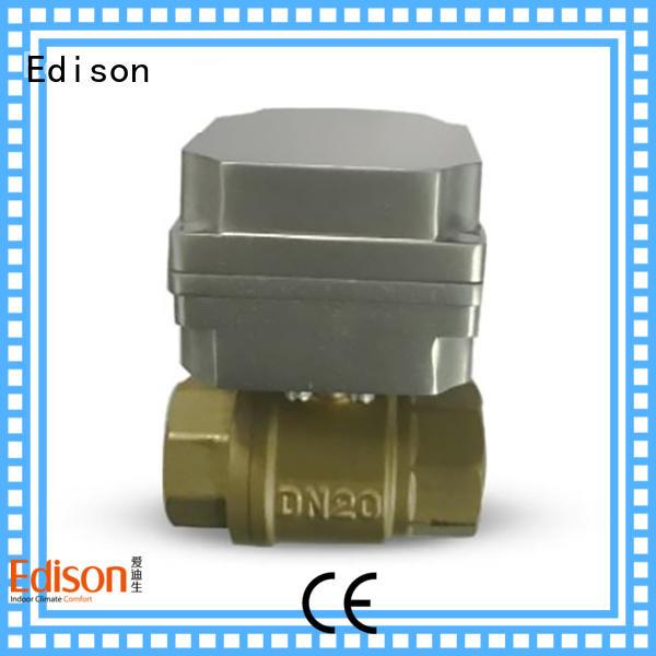 Edison sale motorised ball valve supplier for hardware store