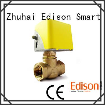 Edison motorized motorised valve manufacturer for air conditioning