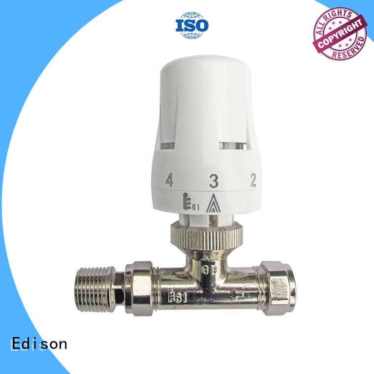 pack angle twin thermostatic radiator valve comfortable Edison Brand