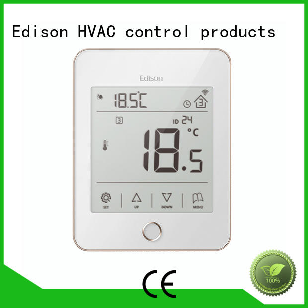 ac black heating room thermostat comfortable Edison